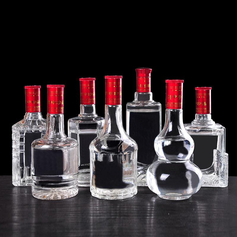 透白玻璃酒瓶