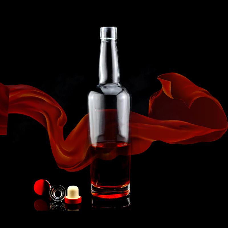 精白料玻璃酒瓶 洋酒瓶 高档酒瓶