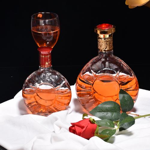 高档圆形酒瓶